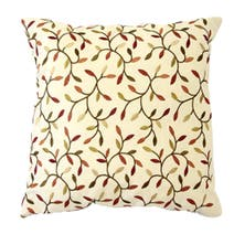 Natural Embroidery Leaf Cushion