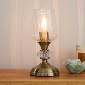 Hurricane Glass Table Lamp