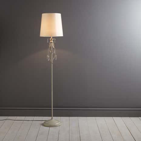 Leaf and jewel floor lamp