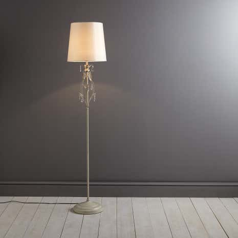Leaf and Crystal Floor Lamp