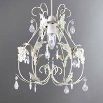Leaf and Crystal Pendant Light Fitting