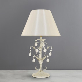 Leaf and Jewel Table Lamp