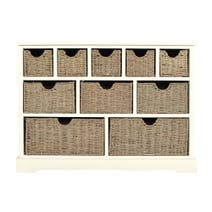 Cottage Ivory 10 Drawer Sideboard