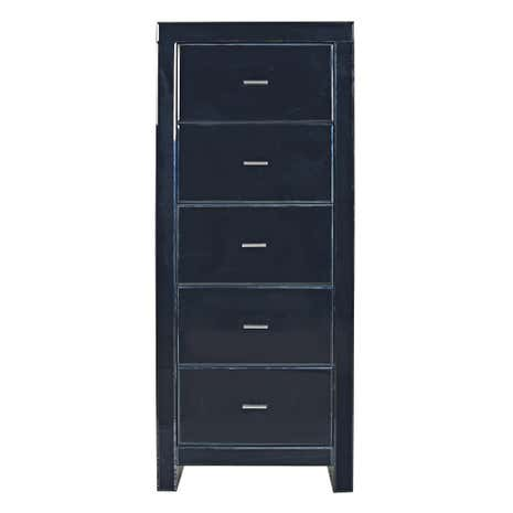 Venetian Black 5 Drawer Tallboy