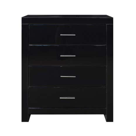 Venetian Black 4 Drawer Chest