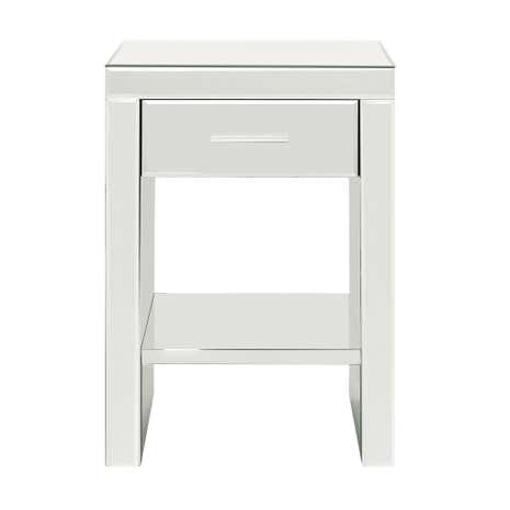 mirrored bedside table. venetian mirrored 1 drawer bedside table