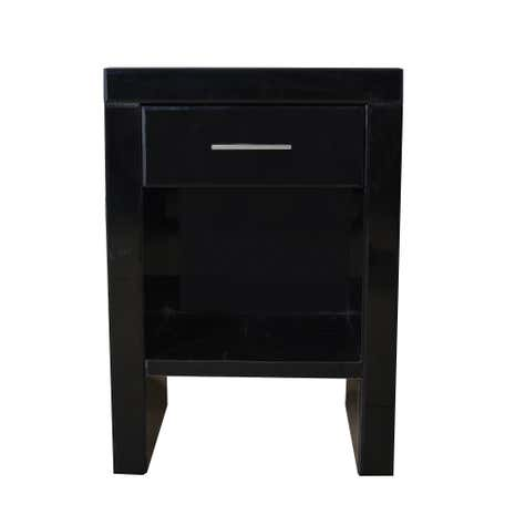 Venetian Black 1 Drawer Bedside Table