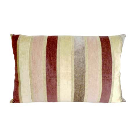 Veluto Stripe Cushion Terracotta