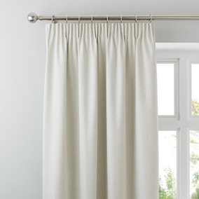 Solar Natural Blackout Pencil Pleat Curtains