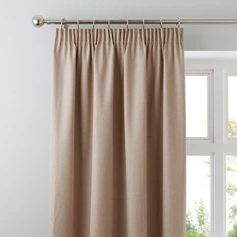 Solar Biscuit Pencil Pleat Blackout Curtains | Dunelm
