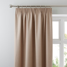 Solar Biscuit Pencil Pleat Blackout Curtains