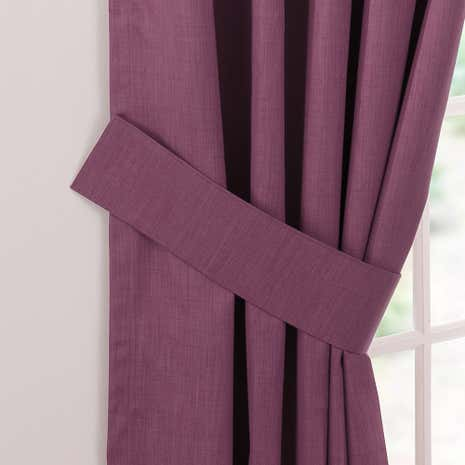 Aubergine Solar Curtain Tiebacks