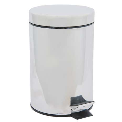 White Bathroom Bin bathroom basics 3-litre pedal bin | dunelm