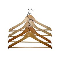 Set of 10 Wooden Hangers