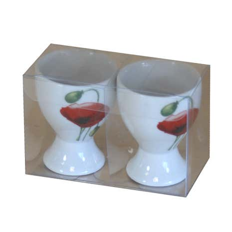 Poppy Pair of Egg Cups