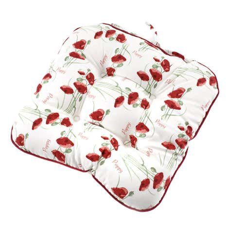 Red Poppy Filled Seat Pad