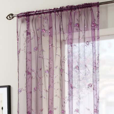 Amethyst Voile Panel