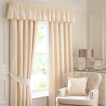 Natural Sandringham Lined Pencil Pleat Curtains