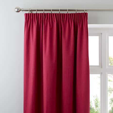 Fuchsia Solar Blackout Pencil Pleat Curtains