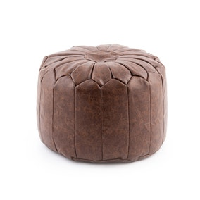 Moroccan Stitched Pouffe