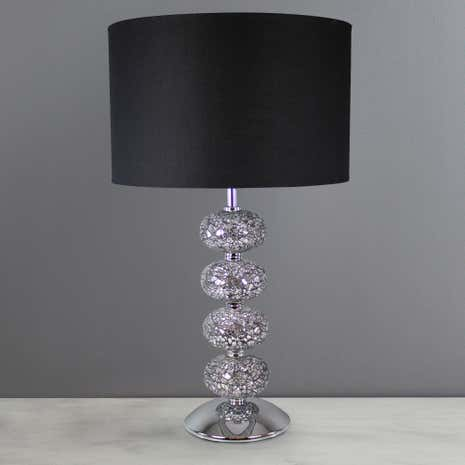 Crackle Glass 4-Ball Lamp