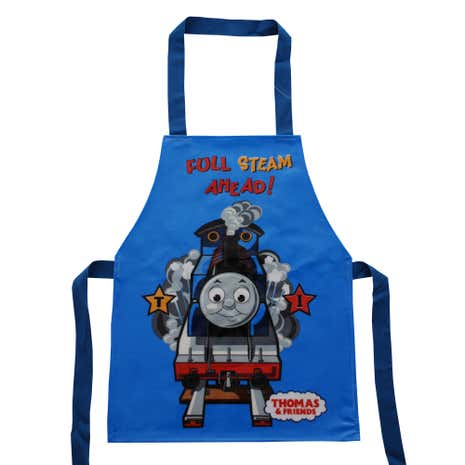 Kids Thomas the Tank Engine Blue PVC Coated Apron