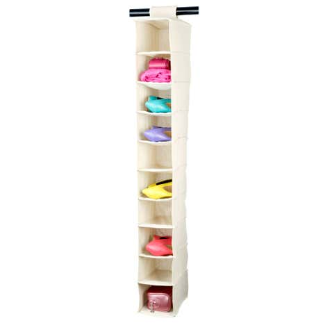 100% Cotton Hanging Shoe Organiser