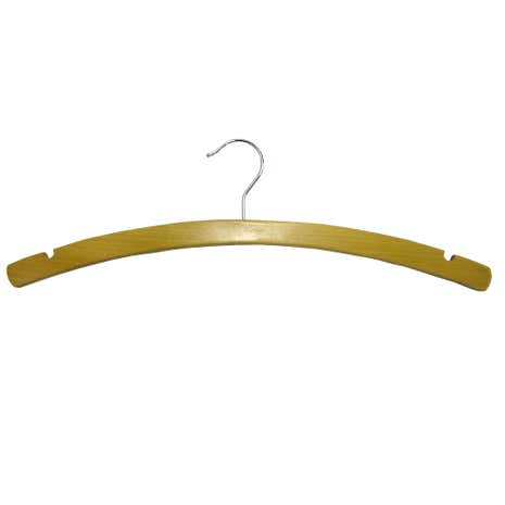 Set of 5 Brown Wooden Hangers