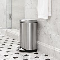 simplehuman Deluxe 10 Litre Semi-Round Stainless Steel Pedal Bin