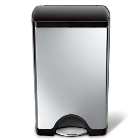 simplehuman 38 Litre Rectangle Stainless Steel Pedal Bin