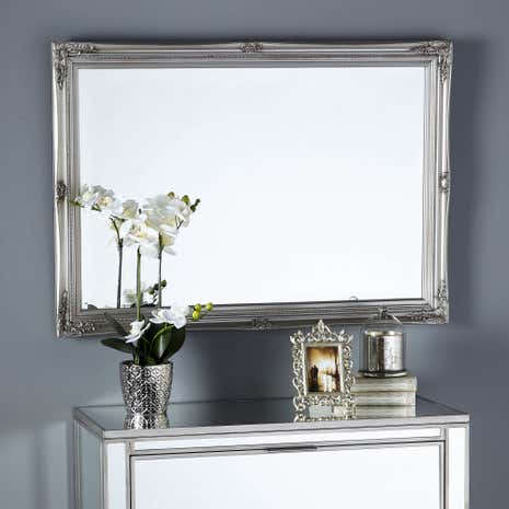 Swept Bevelled Mirror | Dunelm