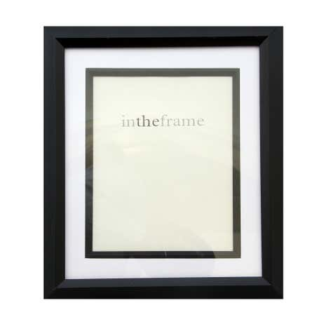 Black Photo Frame with Slip