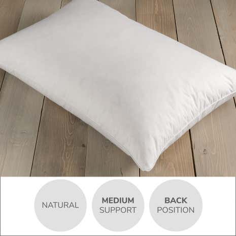 Wash Me Duck Feather and Down Medium-Support Pillow