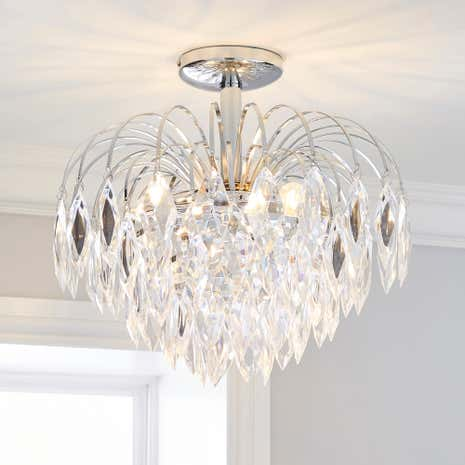 Acrylic Ice Drop Light Fitting