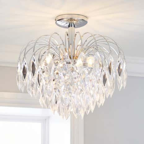 Dunelm Crystal Ceiling Lights : Light fittings for living room peenmedia