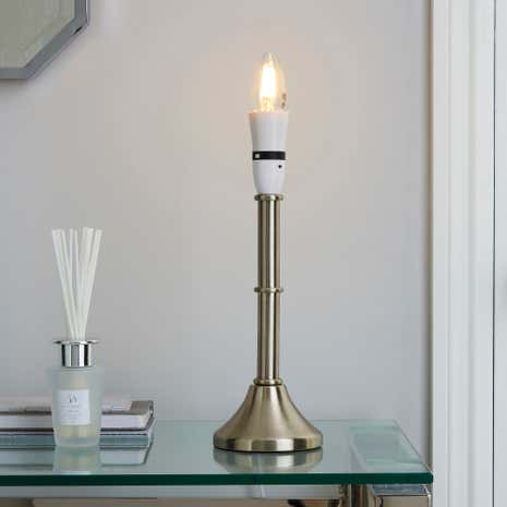 Smooth Candlestick Lamp Base