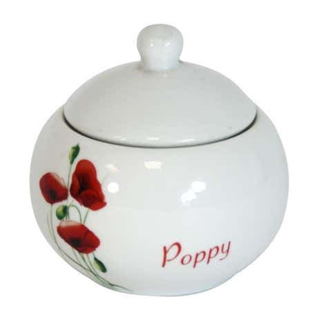 Poppy Round Sugar Jar