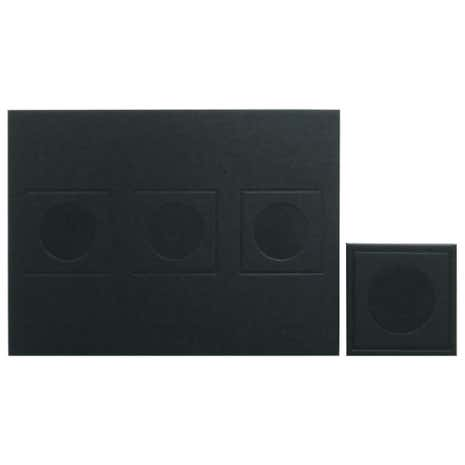 Geo Black Set of 4 Placemats and Coaster Pack