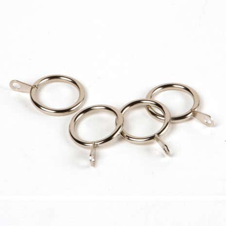 Seville Satin Steel Curtain Rings