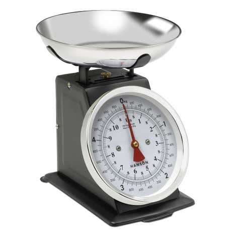 Hanson H500 5kg Traditional Black Kitchen Scales