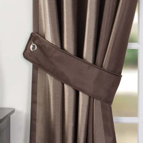 Chocolate Monaco Curtain Tiebacks