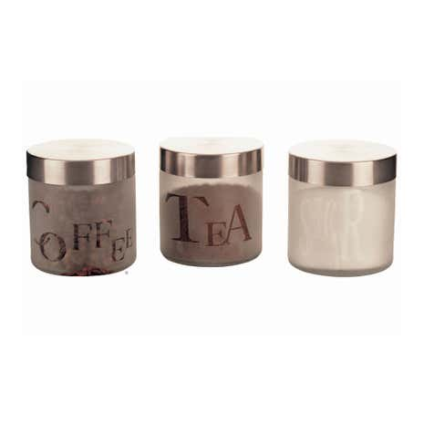 Set of Three Glass Canisters