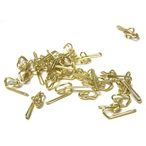 Pack of 25 Metal Curtain Hooks