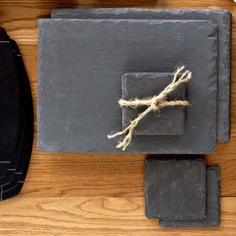 Set of Four Slate Place Mats