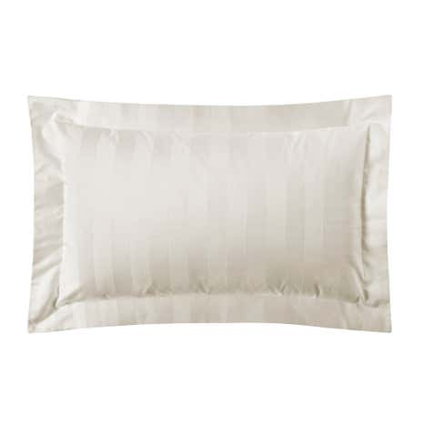 Hotel Stripe Cream 300 Thread Count Oxford Pillowcase