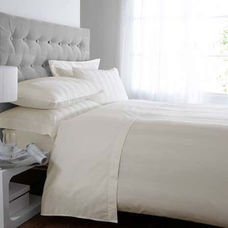 Hotel Cream Stripe 300 Thread Count Duvet Cover