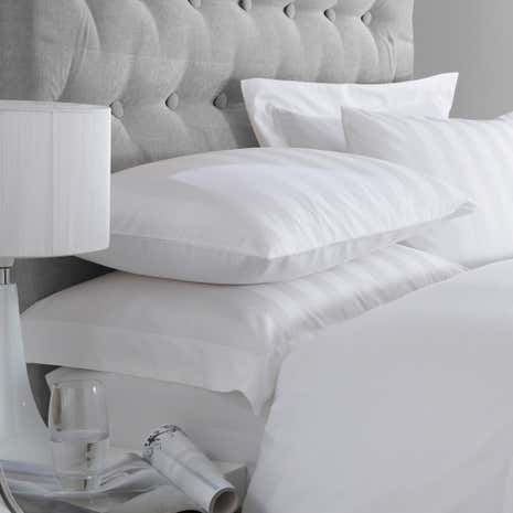 Hotel Stripe White 300 Thread Count Oxford Pillowcase