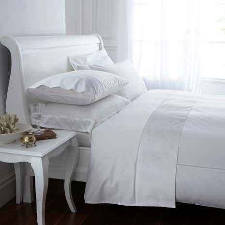 White Hotel Pima Floral 400 Thread Count Duvet Cover