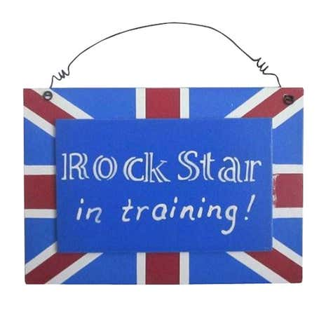Kids Union Jack Hanging Plaque