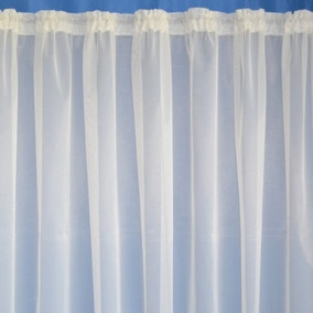 Plain Leaded Net Curtain Fabric